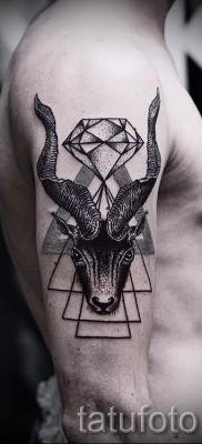 Тату козел – фото готовой татуировки от 10012016 9