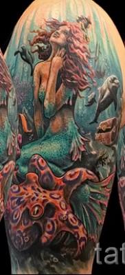 Тату русалка – фото готовой татуировки от 10012016 11