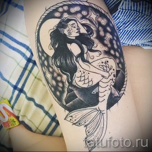 Тату русалка - фото готовой татуировки от 10012016 15