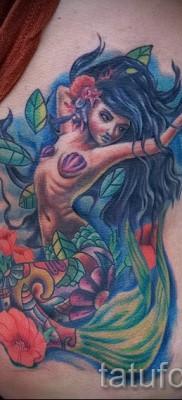 Тату русалка – фото готовой татуировки от 10012016 26