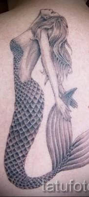 Тату русалка – фото готовой татуировки от 10012016 28