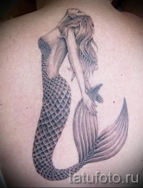 Тату русалка - фото готовой татуировки от 10012016 28
