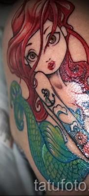 Тату русалка – фото готовой татуировки от 10012016 30