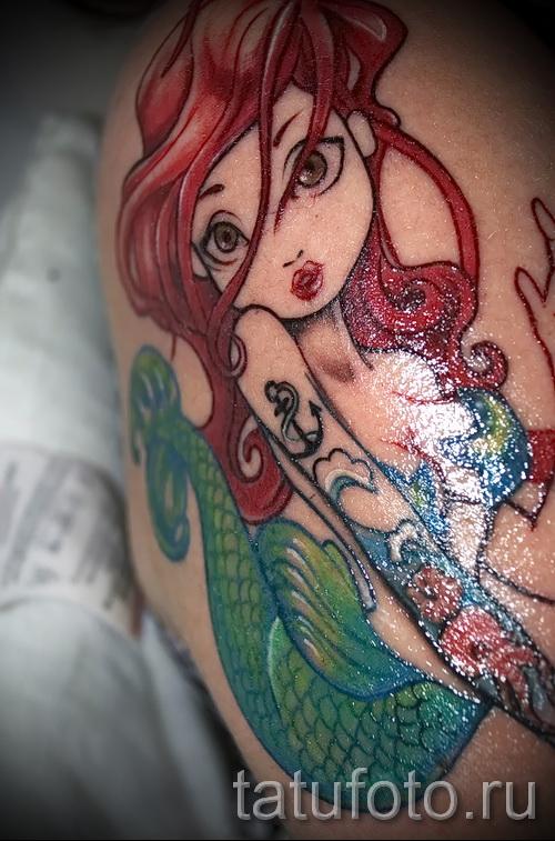 Тату русалка - фото готовой татуировки от 10012016 30