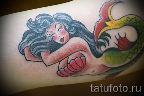 Тату русалка - фото готовой татуировки от 10012016 34