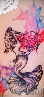 Тату русалка – фото готовой татуировки от 10012016 38