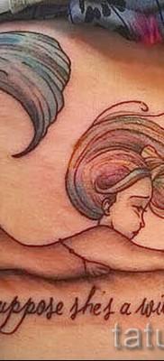 Тату русалка – фото готовой татуировки от 10012016 43