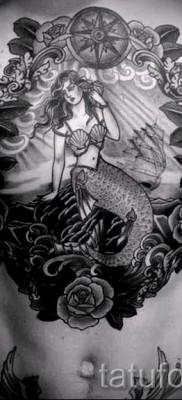 Тату русалка – фото готовой татуировки от 10012016 46