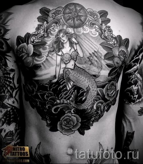 Тату русалка - фото готовой татуировки от 10012016 46