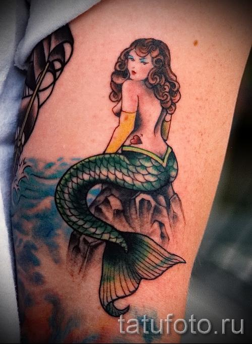 Тату русалка - фото готовой татуировки от 10012016 47Тату русалка - фото готовой татуировки от 10012016 47