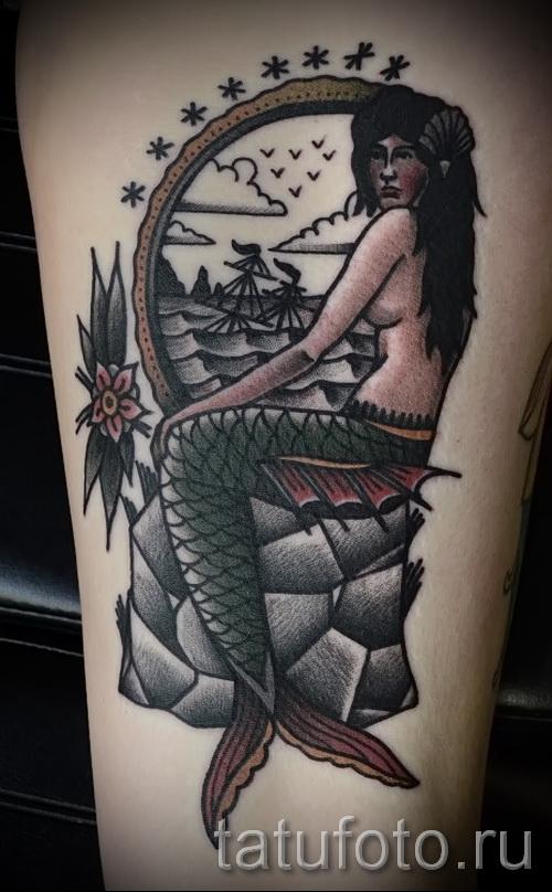 Тату русалка - фото готовой татуировки от 10012016 48