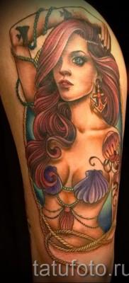 Тату русалка – фото готовой татуировки от 10012016 49