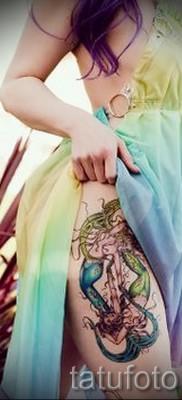 Тату русалка – фото готовой татуировки от 10012016 9
