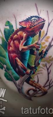 Тату хамелеон – фото пример для статьи про значение 14012016 45