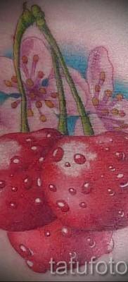 тату вишня во льду – примеры татуировки на фото от 30012016 2