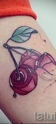 тату вишня во льду – примеры татуировки на фото от 30012016 4
