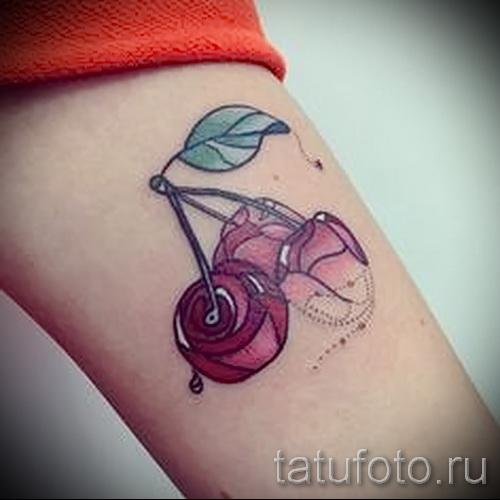 тату вишня во льду - примеры татуировки на фото от 30012016 4