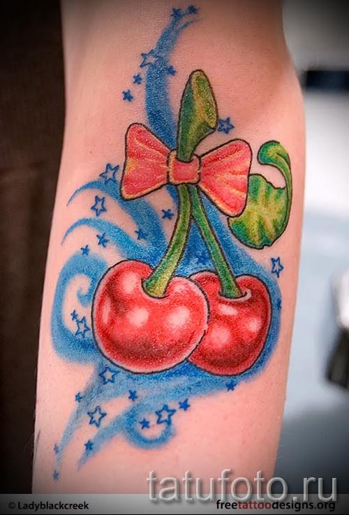 тату вишня в огне - примеры татуировки на фото от 30012016 1
