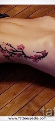 тату вишня на животе – примеры татуировки на фото от 30012016 3
