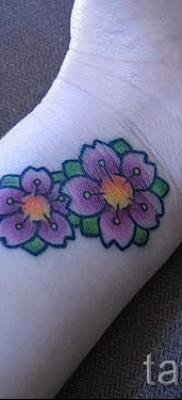 тату вишня на запястье – примеры татуировки на фото от 30012016 5