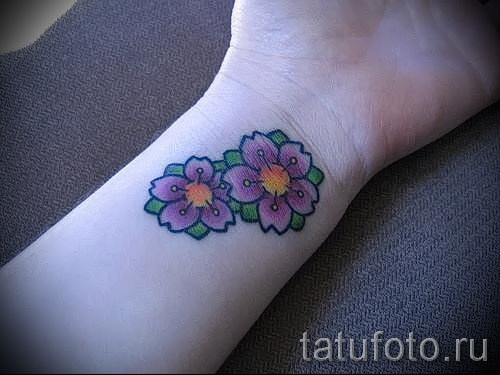 тату вишня на запястье - примеры татуировки на фото от 30012016 5