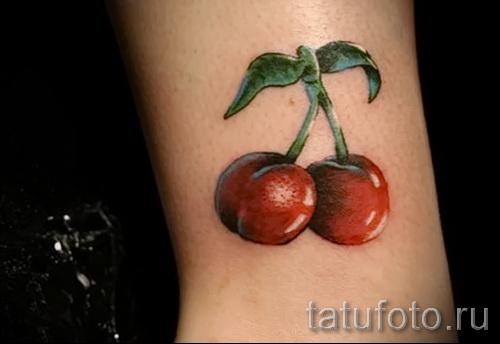 тату вишня на запястье - примеры татуировки на фото от 30012016 8
