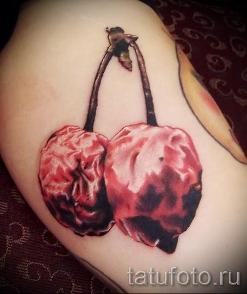тату вишня на попе - примеры татуировки на фото от 30012016 5