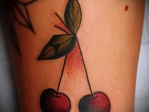 тату вишня олд скул - примеры татуировки на фото от 30012016 3