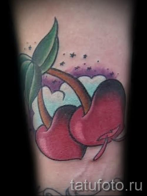 тату вишня олд скул - примеры татуировки на фото от 30012016 6