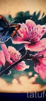 тату вишня с цветком – примеры татуировки на фото от 30012016 1
