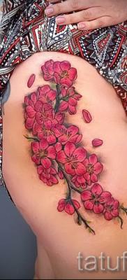 тату вишня цветущая – примеры татуировки на фото от 30012016 1