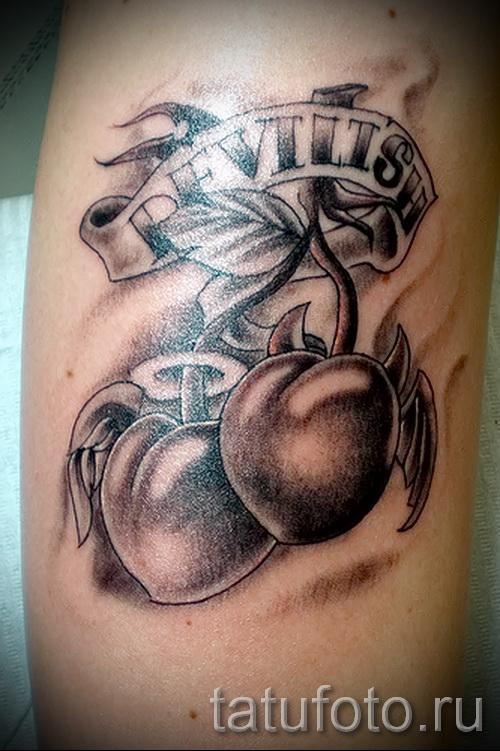 тату вишня черная - примеры татуировки на фото от 30012016 3