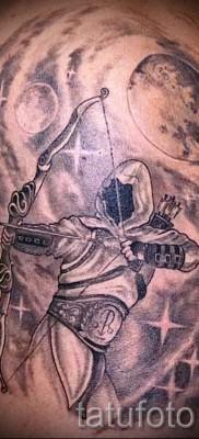 тату знак зодиака стрелец – фото пример от 10012016 2