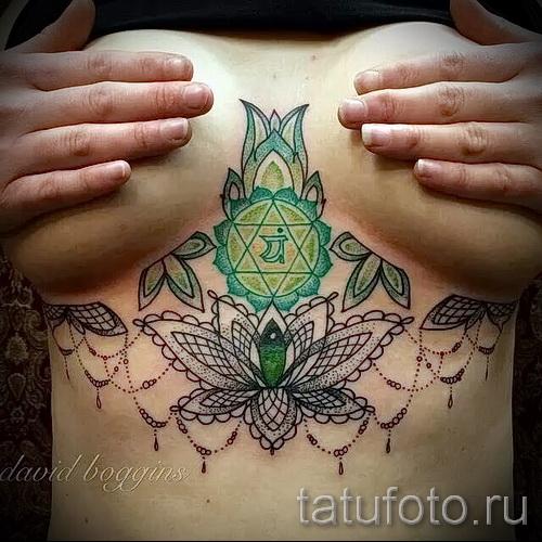 тату под грудиной фото - примеры татуировок на фотографии от 16012016 27