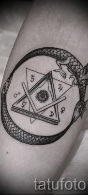 тату уроброс – фото готовой татуировки от 09012016 11