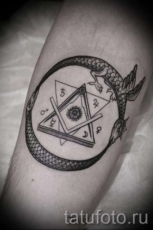 тату уроброс - фото готовой татуировки от 09012016 11