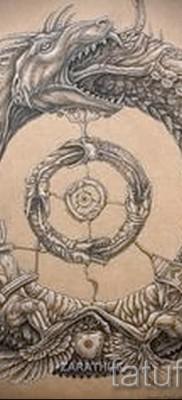 тату уроброс – фото готовой татуировки от 09012016 14