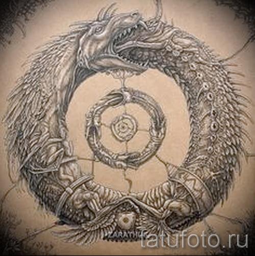 тату уроброс - фото готовой татуировки от 09012016 14