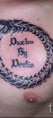 тату уроброс – фото готовой татуировки от 09012016 20