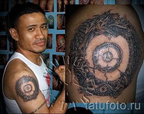 тату уроброс - фото готовой татуировки от 09012016 34