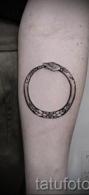 тату уроброс – фото готовой татуировки от 09012016 4
