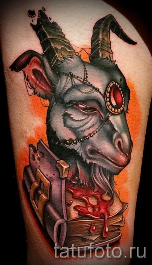 Тату козел - фото готовой татуировки от 10012016 12