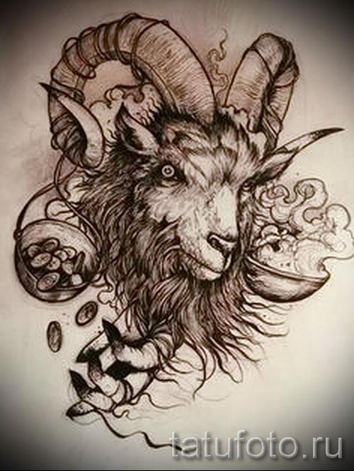 Тату козел - фото готовой татуировки от 10012016 3