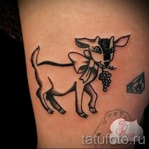 Тату козел - фото готовой татуировки от 10012016 35