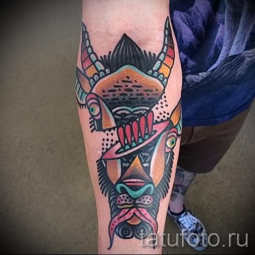 Тату козел - фото готовой татуировки от 10012016 44