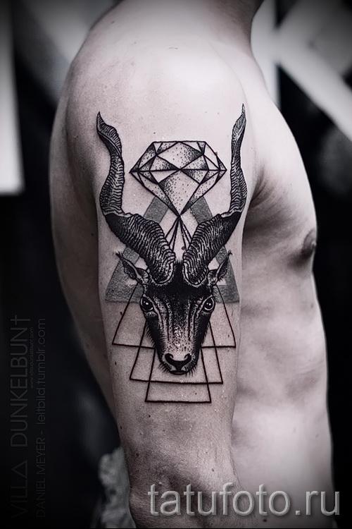 Тату козел - фото готовой татуировки от 10012016 9