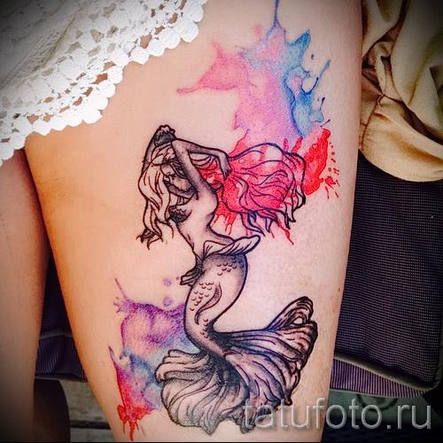 Тату русалка - фото готовой татуировки от 10012016 38