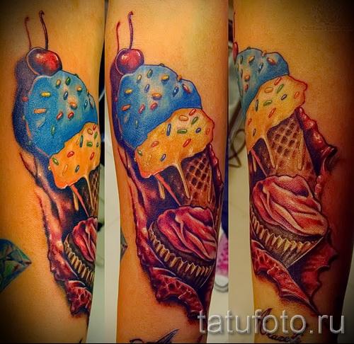 тату вишня во льду - примеры татуировки на фото от 30012016 1