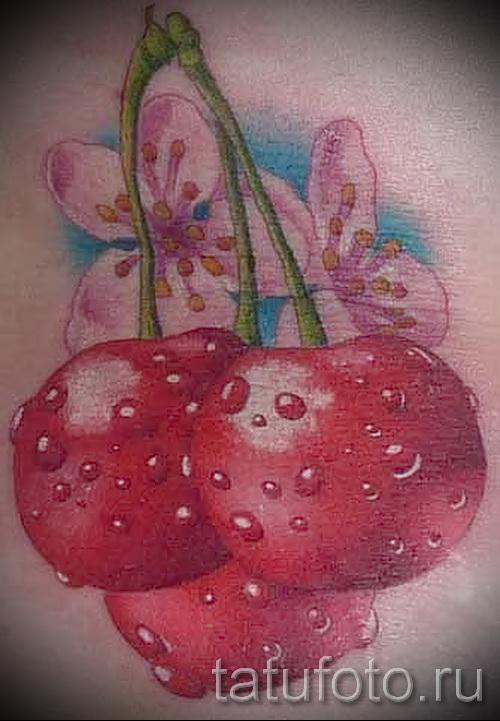 тату вишня во льду - примеры татуировки на фото от 30012016 2