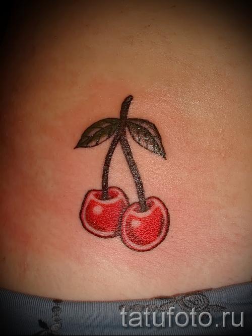 тату вишня олд скул - примеры татуировки на фото от 30012016 4